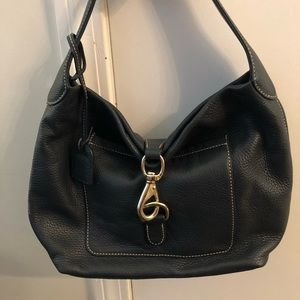 Dark Navy Dooney and Bourke Annalise Lock Hobo